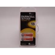 Duracell 13, PR48, 1.45V baterie auditiva blister 6 pentru aparate auditive