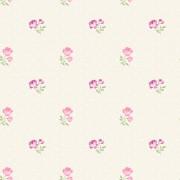 Tapet Trandafiri Roz Matilda - Crem