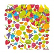Autocolante din spuma Fructe Baker Ross, 120 piese, 3 ani+