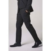 Next Wool Blend Stretch Suit: Trousers - Slim Fit - Black - Mens