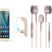 Vivo V5 Curved Edge 9H HD Flexible Tempered Glass with Perfumed Noise Cancellation Earphones with Mic