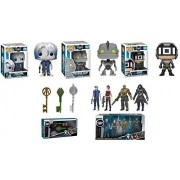 POP Funko Ready Player One: Parzival + The Iron Giant + Sixer + Copper Key + Jade Key + Crystal Key + Collectible Action Figures 4 Pack - Stylized Vinyl Figure Bundle Set New
