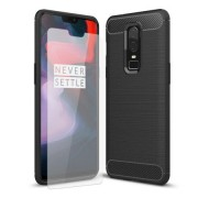 Olixar Sentinel OnePlus 6 Case and Glass Screen Protector (Black, Special Import)