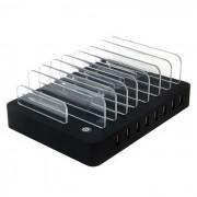 8 cargador USB puerto de la estacion multi-funcion de carga USB - negro