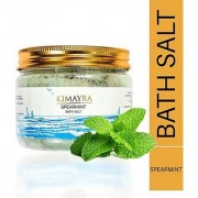 Kimayra World 100 Natural Spearmint Bath Salt Body Scrub for Relaxation Deep Skin Cleansing Naturally Scented 250 g
