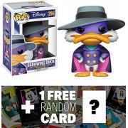 Darkwing Duck: Funko POP! Disney x Darkwing Duck Vinyl Figure + 1 FREE Classic Disney Trading Card Bundle (13260)