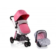 Carucior 3 in 1 SARAH Pink Grey