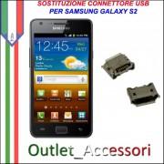 Sostituzione Riparazione Porta Connettore Jack Usb Carica Ricarica per Samsung Galaxy S2 I9100 I9105