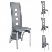 IDIMEX Stuhl Esszimmerstuhl MONICA 4er Set grau
