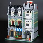 Generic LEPIN 15005 City Grand 15006 Palace Cinema 15007 European Market 15008 Green Grocer Building Blocks Toy 10211 10190 10232 10185 2462Pcs