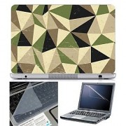 Finearts Laptop Skin Abstract Series 1054 With Screen Guard And Key Protector - Size 15.6 Inch
