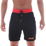 MIIW Physique Boardshorts Beachwear Black/Red 4706-22