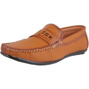 Elvace Tan Loafers Shoes for men - 6029