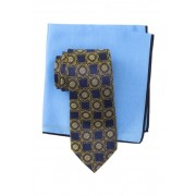 Ted Baker London Silk Connect Medallion Tie Pocket Square Set YELLOW