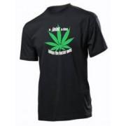 Tricou personalizat negru model A joint a Day