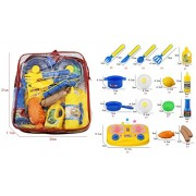 Toys Bhoomi Dream Kitchen Play Food Fruits Vegetables Playset for Pretend Play Cooking Set - 16 Pieces