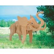 Puzzled Little Elephant 3D Natural Wood Puzzles (53 Piece)