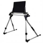 Shop4 - Universele Tablet Houder Bed Verstelbaar Zwart (max. breedte 245mm)