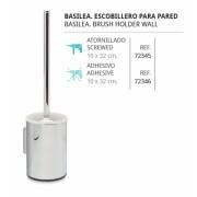 ESCOBILLERO ATORNILLADO O PLAFÓN ADHESIVO DE BELTRAN - Material: Acero Inox. plafón adhesivo