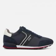 BOSS Men's Parkour Runner Style Trainers - Dark Blue - UK 8 - Blue