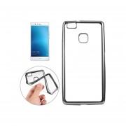 Huawei P9 Lite Galvanotecnia Suave Tpu Cubierta Protectora Case (Negro)