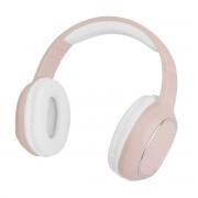 Cuffia Stereo Bluetooth con Microfono Rosa