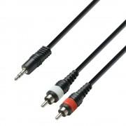 Adam Hall 3 star series - cablu Jack 3.5mm - 2 x RCA(t) - 3m
