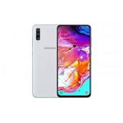 Samsung Galaxy A70 SM-A705F/DS Teléfono celular, SIM dual (128GB ROM, 6GB RAM, 6.7 pulgadas 27 cm, GSM solamente, no CDMA) desbloqueado fábrica, 4G/LTE Smartphone, versión internacional, Blanco