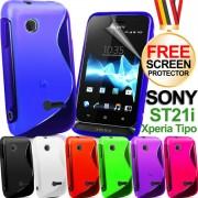 Sony Xperia tipo ST21i Силиконов Калъф + Скрийн Протектор