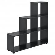 Дизайнерски стъпаловиден шкаф/етажерка Сив, 104 x 107 x 29cm