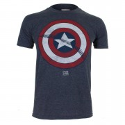 Geek Clothing Marvel Captain America Shield Heren T-Shirt - Heat - XL - Blauw
