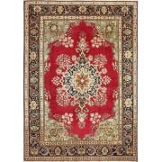 Handgeknüpft. Ursprung: Persia / Iran Handgeknüpfter Teppich Täbriz Patina 240X337 Dunkelbraun/Hellbraun (Wolle, Persien/Iran)