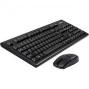 Клавиатура + Мишка Безжичен комплектV-Track PADLESS 3100N, черна,1000 dpi,2.4Gh, USB, нано рисивър - A4-KEY-3100N