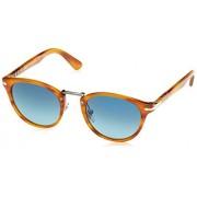 Persol Mens Sunglasses (PO3108) Brown/Blue Acetate Polarized 49mm