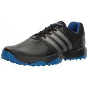 adidas Men's 360 Traxion Cblack/Dksimt Golf Shoe, Black, 7 M US
