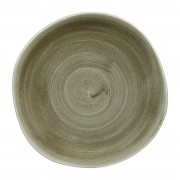 Churchill Super Vitrified Churchill Stonecast Patina Antique Organic Round Plates Green 264mm