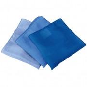 Set doekjes van biologische zijde, Blauw-tinten l 27 x b 27 cm