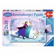 Puzzle Disney Frozen - Surori pentru totdeauna, 48 piese
