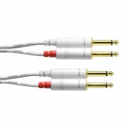 Cordial - CFU 6 PP-SNOW Doppel-Klinkenkabel 6m