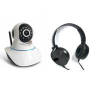Zemini Wifi CCTV Camera and Extra Bass XB450 Headset for LG OPTIMUS VU(Wifi CCTV Camera with night vision  Extra Bass XB450 Headset )