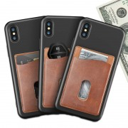 Samsung FLOVEME Universal Credit Card Holder Pocket PU Leather Pouch for Samsung iPhone Xiaomi
