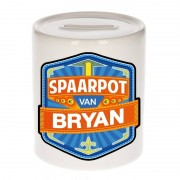 Bellatio Decorations Kinder cadeau spaarpot voor een Bryan