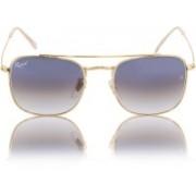 Resist Retro Square Sunglasses(Blue)