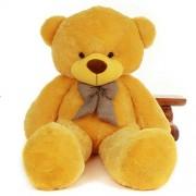 Hug 'n' Feel Soft Toys Giant Life Size Stuffed Teddy Bear/Stuffed Spongy Hugable Cute Teddy Bear Cuddles Soft Toy For Kids Birthday / Return Gifts Girls Lovable Special Gift High Quality YELLOW 5 feet (152 cm)