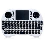 Mini tastiera wireless ergonomica con mouse touchpad BIANCA