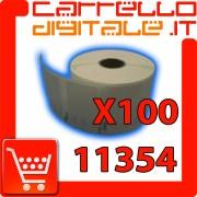 Etichette Compatibili con Dymo 11354 Bixolon Seiko 100 Rotoli