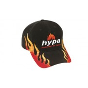 Headwear Professional 6 Panel Heavy Brushed Cotton With Double Flame Embroidery Cap Black/Gold 4236