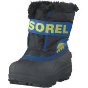 Sorel Children's Snow Commander 011 Black, Super Blue, Skor, Kängor & Boots, Varmfodrade kängor, Grå, Unisex, 29