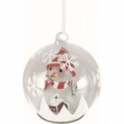 Glob cu LED si figurina Om de Zapada sticla diametru 13 cm baterii