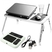 Portable Laptop Desk Bed Sofa Stand New Lapdesk Adjustable Folding Laptop Table E-Table With Tray Cooling Fans Stand Hom